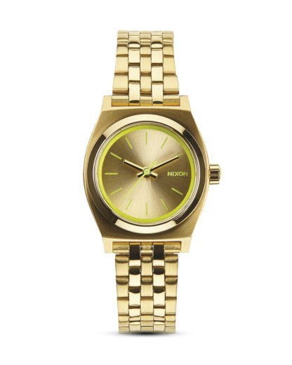 Quarzuhr Small Time Teller A399 1618-00 Gold / Neon Yellow NIXON gelb,gold 3608700070032