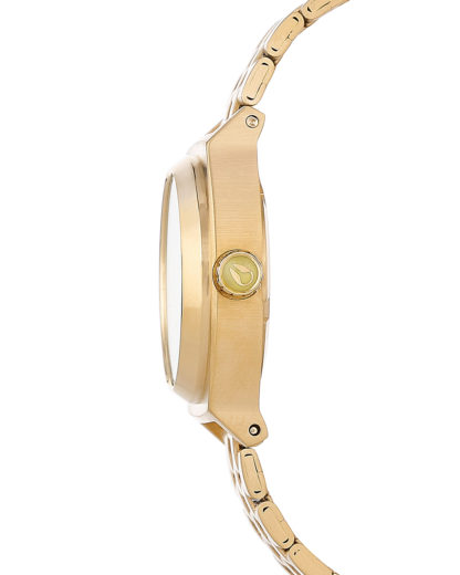 Quarzuhr Small Time Teller A399 1618-00 Gold / Neon Yellow NIXON Damen Edelstahl 3608700070032