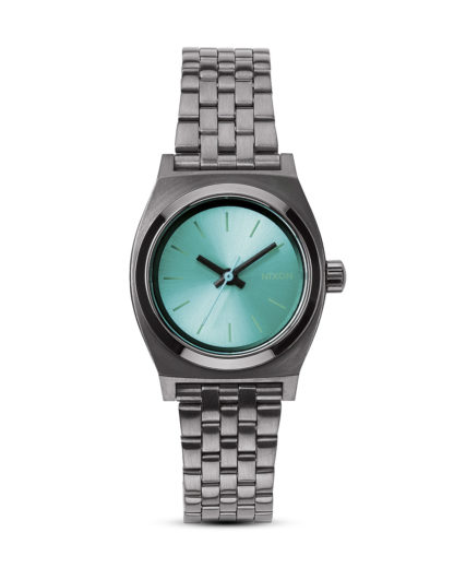 Quarzuhr Small Time Teller A399 1697-00 Gunmetal / Light Blue NIXON blau,grau,grün 3608700070049