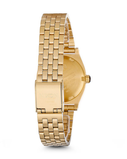 Quarzuhr Small Time Teller A399 502-00 All Gold NIXON Damen Edelstahl 3608700138053