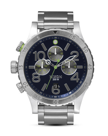 Chronograph 48-20 A486 1981 Midnight Blue / Volt Green NIXON silber 3608700591599
