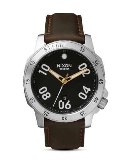 Quarzuhr Ranger Leather A508 019 Black / Brown NIXON braun 3608700592565