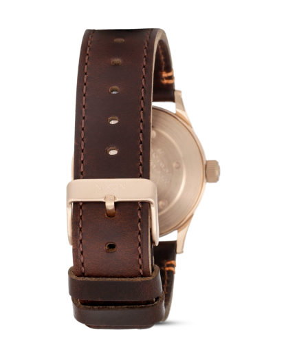 Quarzuhr Sentry 38 Leather A377 2001 Rose Gold / Gunmetal / Brown NIXON Herren Leder 3608700205519