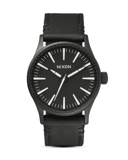 Quarzuhr Sentry 38 Leather A377 005 Black / White NIXON schwarz 3608700592206