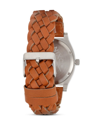 Quarzuhr Time Teller Leather A045 1959 Dark Copper / Saddle Woven NIXON Herren Leder 3608700591421