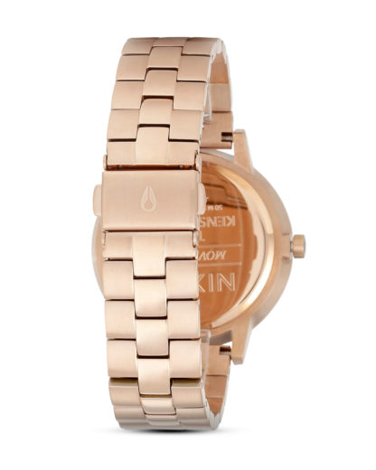 Quarzuhr Kensington A099 1045 Rose Gold / White NIXON Damen Edelstahl vergoldet 3608700591834