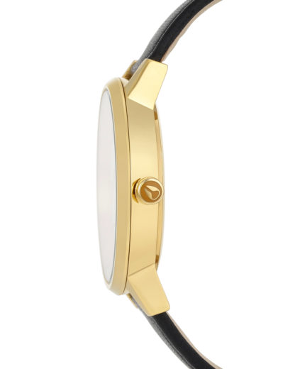 Quarzuhr Kensington Leather A108 1964 Gold / White / Black NIXON Damen Leder 3608700591919