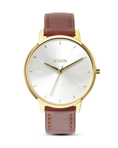 Quarzuhr Kensington Leather A108 1425 Gold / Saddle NIXON braun 3608700591896