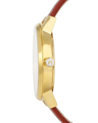 Quarzuhr Kensington Leather A108 1425 Gold / Saddle NIXON Damen Leder 3608700591896