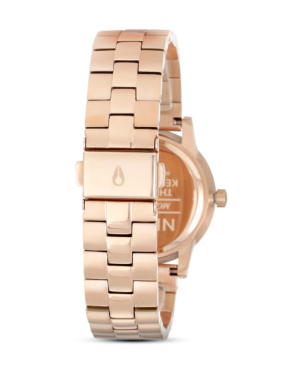 Quarzuhr Small Kensington A361 1045 Rose Gold / White NIXON Damen Edelstahl vergoldet 3608700592121
