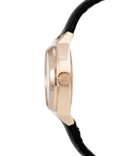 Quarzuhr Small Time Teller Leather A509 1932 All Rose Gold / Black NIXON Damen Leder 3608700591629