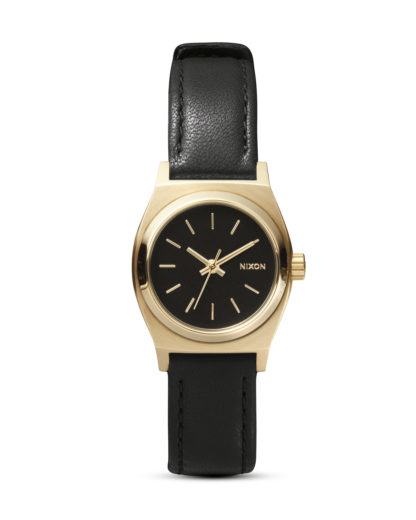 Quarzuhr Small Time Teller A509 010 Black / Gold NIXON schwarz 3608700591612
