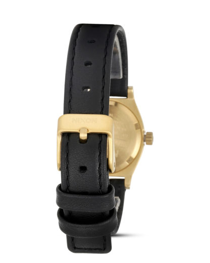 Quarzuhr Small Time Teller A509 010 Black / Gold NIXON Damen Leder 3608700591612