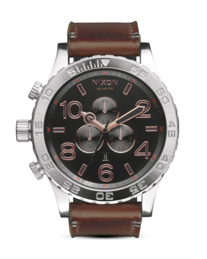 Chronograph 51-30 Leather A124 2064-00 Gray / Rose Gold NIXON braun,grau,silber 3608700613475