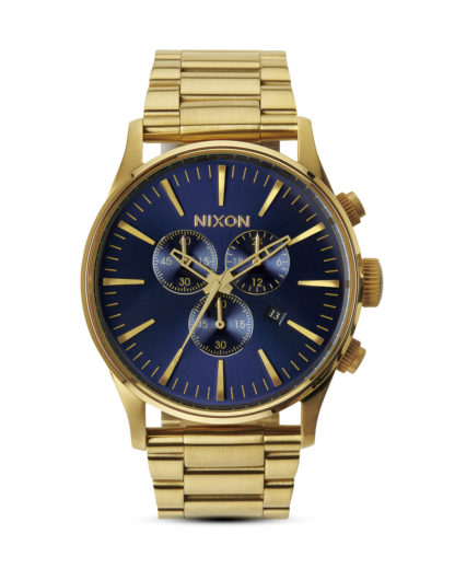 Chronograph Sentry A386 1922-00 Gold / Blue Sunray NIXON blau,gold 3608700138039