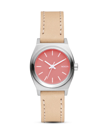 Quarzuhr Small Time Teller A509 2055-00 Bright Coral / Natural NIXON rosa,silber 3608700613871