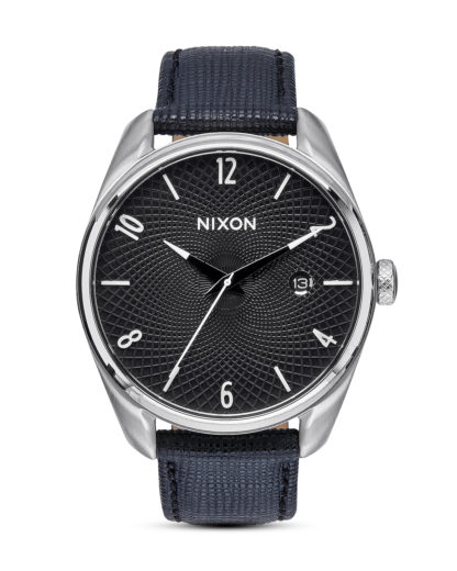 Quarzuhr Bullet Leather A473 000 Black NIXON schwarz,silber 3608700641157