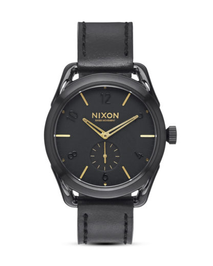 Quarzuhr C39 Leather A459 010 Black / Gold NIXON gold,schwarz 3608700640945