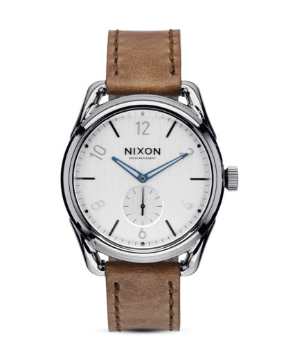 Quarzuhr C39 Leather A459 2067 Gunmetal / Chestnut NIXON braun,silber,weiß 3608700640969