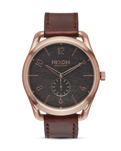 Quarzuhr C45 Leather A465 1890 Rose Gold / Brown NIXON braun,roségold,schwarz 3608700640990
