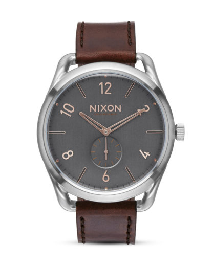 Quarzuhr C45 Leather A465 2064 Gray / Rose Gold NIXON braun,grau,silber 3608700641003