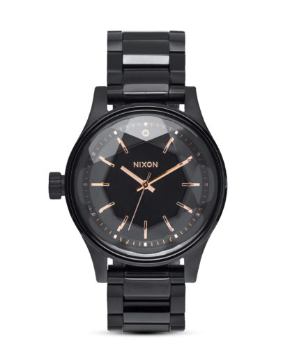 Quarzuhr Facet 38 A409 957 All Black / Rose Gold NIXON schwarz 3608700640778