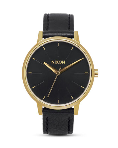 Quarzuhr Kensington Leather A108 513 Gold / Black NIXON gold,schwarz 3608700640549