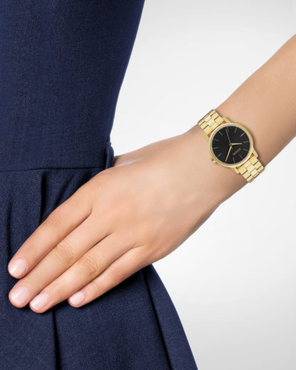 Quarzuhr Small Kensington A361 2042 All Gold / Black Sunray NIXON Damen Edelstahl 3608700640655