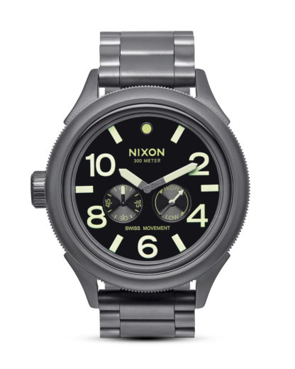 Quarzuhr October Tide A474 1418 All Gunmetal / Lum NIXON grau,schwarz 3608700641201