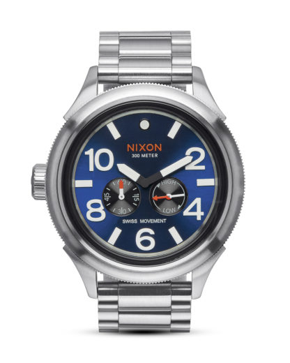 Quarzuhr October Tide A474 1258 Blue Sunray NIXON blau,silber 3608700641195