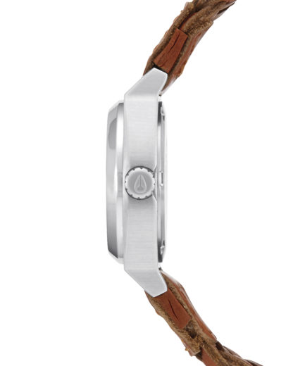 Quarzuhr Small Time Teller Leather A509 2082 Saddle Woven NIXON Damen Leder 3608700641287