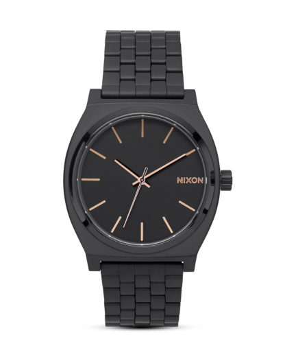 Quarzuhr Time Teller A045 957 All Black / Rose Gold NIXON schwarz 3608700640471