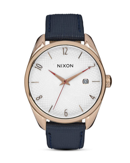 Quarzuhr Bullet Leather A473 2160-00 Rose Gold / Navy NIXON blau,roségold,weiß 3608700654546