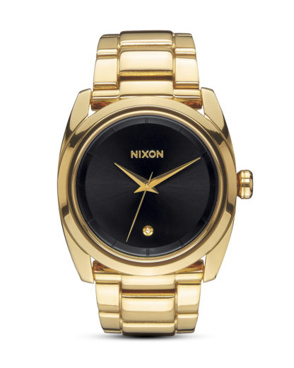 Quarzuhr Queenpin A935 510-00 All Gold / Black NIXON gold,schwarz 3608700663296
