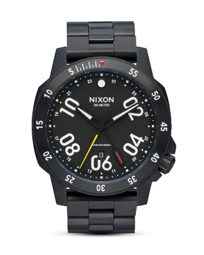 Quarzuhr Ranger GMT A941 001-00 All Black NIXON schwarz 3608700663470