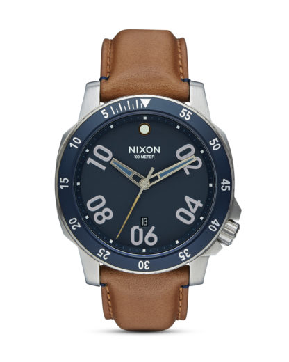 Quarzuhr Ranger Leather A508 2186-00 Navy / Saddle NIXON blau,braun,silber 3608700663111