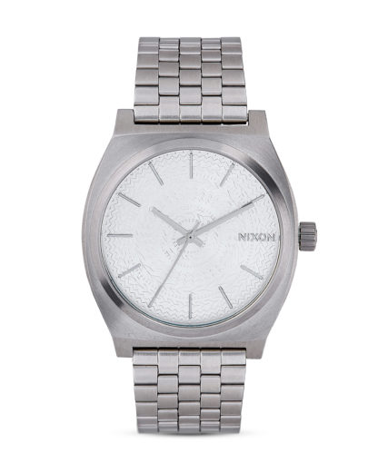 Quarzuhr Time Teller A045 2129-00 All Silver / Stamped NIXON silber 3608700662466