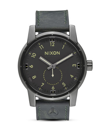 Quarzuhr Patriot A938 2072-00 Gunmetal / Surplus NIXON grau,schwarz 3608700663364