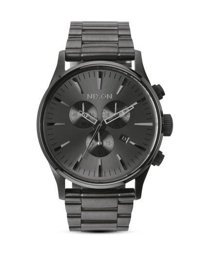 Chronograph Sentry A386 632-00 All Gunmetal NIXON grau 3608700138022