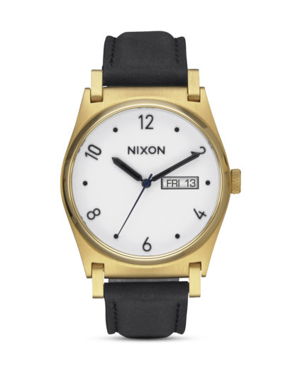 Quarzuhr Jane Leather A955-513 Gold / Black NIXON gold,schwarz,weiß 3608700704159