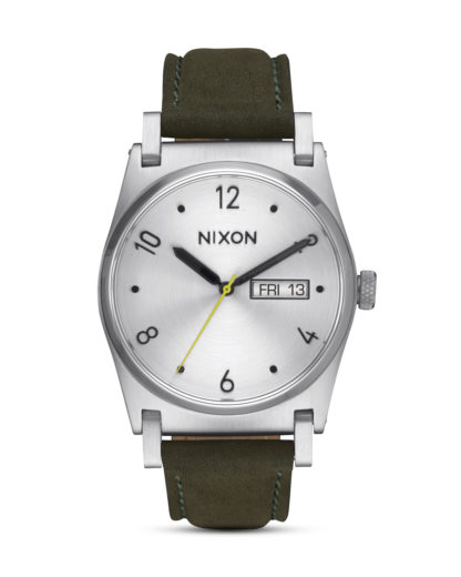 Quarzuhr Jane Leather A955-2232 Silver / Surplus NIXON grün,silber 3608700704142