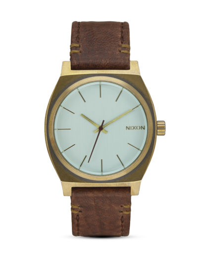 Quarzuhr Time Teller A045-2223 Brass / Green Crystal / Brown NIXON braun,gold,grün 3608700702889