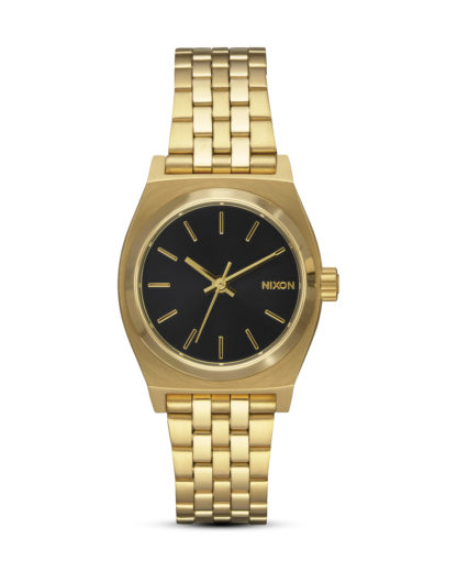 Quarzuhr Small Time Teller A399-513 Gold / Black NIXON gold,schwarz 3608700703343