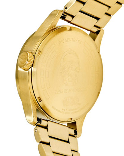 Quarzuhr Sentry SS Star Wars A356SW-2378-00 C-3PO Gold STAR WARS ™ | NIXON Damen,Herren Edelstahl 3608700757063