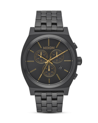 Chronograph Time Teller A972-1031 All Black / Gold NIXON gold,schwarz 3608700747705
