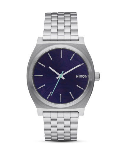 Quarzuhr Time Teller A045-230 Purple NIXON blau,silber 3608700746517