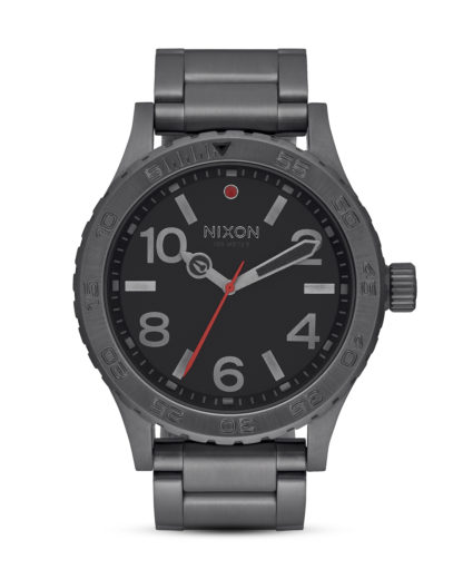 Quarzuhr The 46 A916-632 All Gunmetal NIXON grau,schwarz 3608700747224