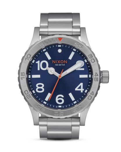Quarzuhr The 46 A916-1258 Blue Sunray NIXON blau,silber 3608700747200