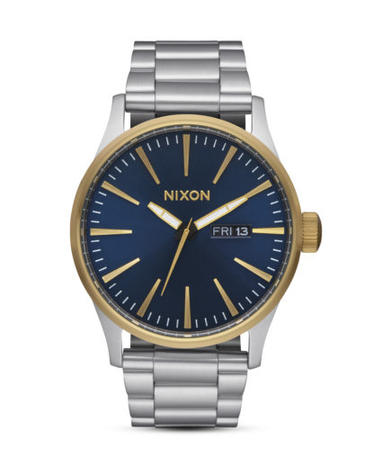 Quarzuhr Sentry SS A356-1922 Gold / Blue Sunray NIXON blau,gold,silber 3608700746814