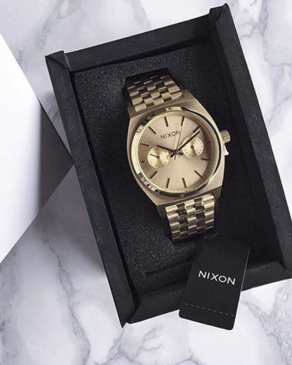 Quarzuhr Time Teller Deluxe A922-502 All Gold NIXON gold 3608700702797